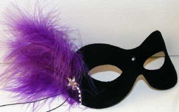 Black & purple masquerade mask